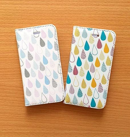 4cd272d541 手帳型iPhone6/6s しずく柄2色 iPhoneケース・カバー POKO-SUN 通販 ...
