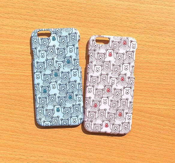 8771f0c88e iphone7/iphone6ケース☆くまさん柄2色 iPhoneケース・カバー POKO-SUN ...