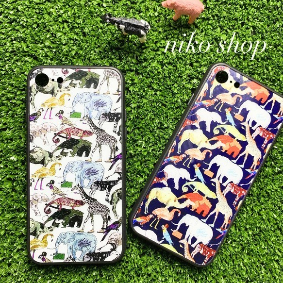 e09453304e 強化ガラスiPhoneケース 動物柄 iPhoneケース・カバー POKO-SUN 通販 ...