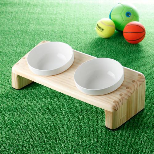 木製餌台ペットの食卓(ナナメW中)