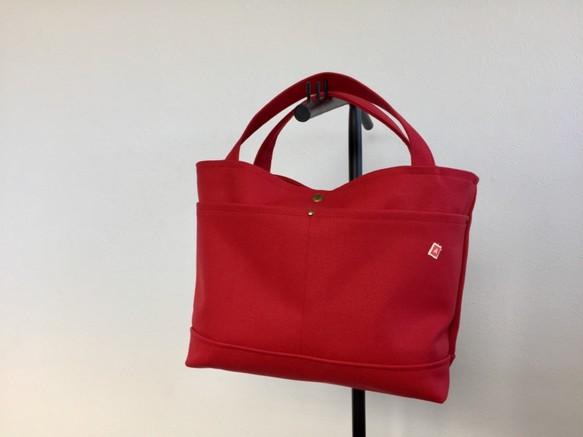 22d3f9e5a2f9 コロンとトートバッグ。赤8号帆布 トートバッグ greenberry 通販|Creema ...