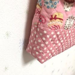 2b441703ac3d 図書袋 スイーツ柄ピンク/ショルダー/通園バッグ/絵本袋 レッスンバッグ ...