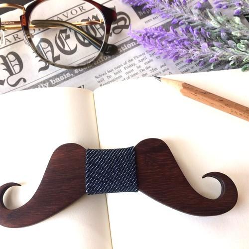 お髭の木の蝶ネクタイ