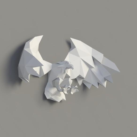 3dペーパーモデル ペーパー彫刻 ペーパーアート イーグルスの翼diy