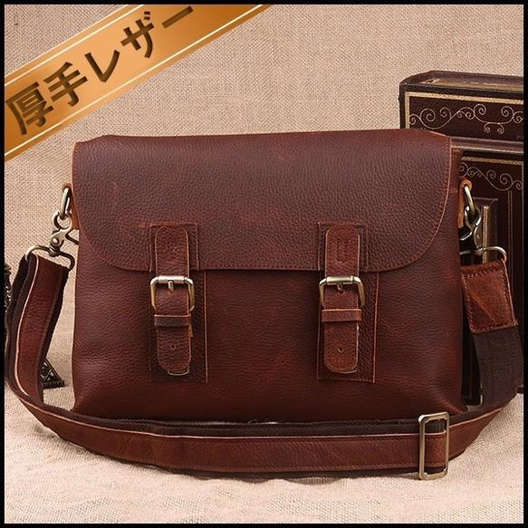 d6e0e530457d ベルト離脱可 本革 オイルレザー メンズ ショルダーバッグ 斜め掛けバッグ ブラウン色 iPad対応 鞄 ショルダーバッグ amanda