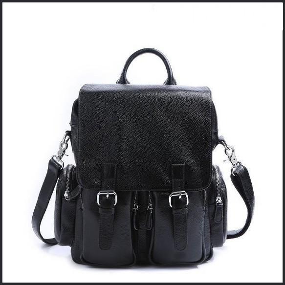 1ff158059fde 3WAY 本革 レザー メンズ レディース リュックサック 13PC A4対応 ブラック ディパック バックパック 鞄 リュック・バックパック  amanda