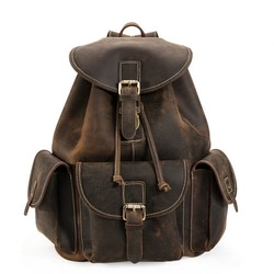 9445e3a842bf ラウンドzip 2WAY メンズ 本革 リュックサック ディパック バッグパック アウトドア 旅行トラベル鞄