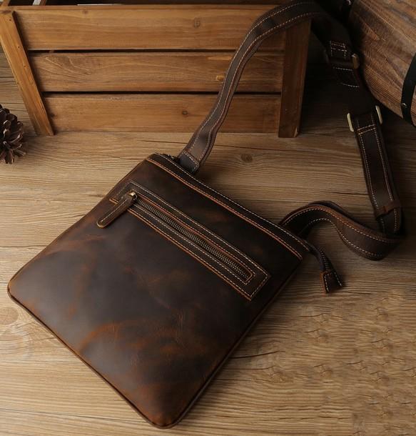 66b0ec90c522 バッグ メンズ ウエストバッグ ワンショルダーバッグ ボディバッグ 斜めかけ ブラウン 鞄 オイルレザー Z15