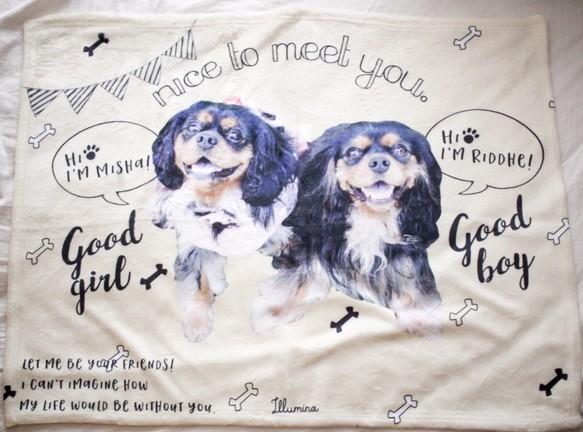 うちの子オリジナルブランケットS My sweetie #Goodboy Goodgirlシリーズ[ILLUMINA/Creema]