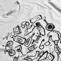 オシャレでクールなイラストtシャツthanks Papa Tシャツカットソー