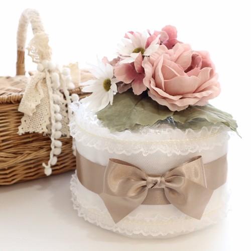 送料無料 くすみカラーの大人可愛いおむつケーキ ピンク 雑貨 その他 Atelier Mix 通販 Creema クリーマ ハンドメイド 手作り クラフト作品の販売サイト