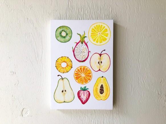 原画アート作品フルーツ断面飾りやすいミニサイズ 絵画 Sawako