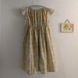 b7faa66919d65 140サイズ 女の子ワンピース マスタード 子供服 結布-yufu- 通販|Creema(クリーマ) ハンドメイド・手作り・クラフト作品の販売サイト