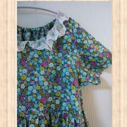 b641eec5b910a 150cm ヨーロピアンフラワー女の子ワンピース 半袖 綿100% 子供服 結布 ...