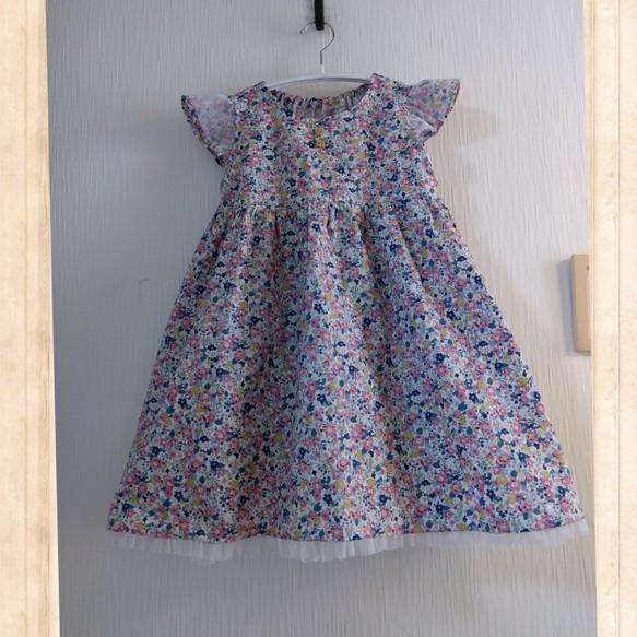 b98751e627e15 110サイズ ミックスフラワーワンピース 女の子 子供服 結布-yufu- 通販 ...