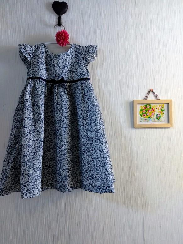 025c3bdbe4704 120cm グラデーションブルーフラワーワンピース 子供服 結布-yufu- 通販 ...