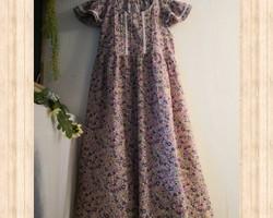 f4b000322328e 120サイズ リバティ調花柄ワンピース マスタード 子供服 結布-yufu- 通販 ...