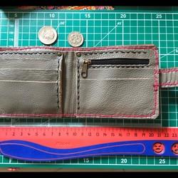 a5da55a3da0c 送料無料 ハッピーピンク レザーウォレット バッグ 革職人の手作り財布屋 本革手縫い細工ポーチ 財布・二つ折り財布 革職人のハンドメイド屋。
