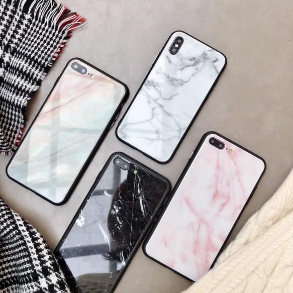 iphoneXSMax/XR対応 フチどり 大理石風 6,7,8,7plus,8plus,6splus/X ...