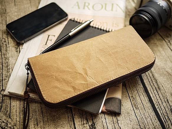 innovative design 1da7f 88dd3 クラフト紙を洗浄しました。古典長いクリップ/財布/ウォレット/財布(原色)(綿のような無地黒色布)