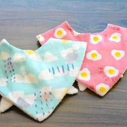 3e43a99ecf472  ハウス 服の赤ちゃんのよだれかけセーラー服のネクタイ  ﹝﹞青の幾何学の正方形