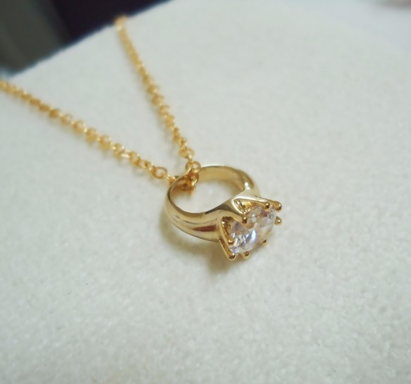 ring pendant necklace mozeypictures Choice Image