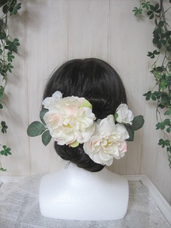 髪飾りセット♪生花みたいに綺麗な造花♪ウェディングに♪丈夫で軽い、枯れない♪高品質ヘッドパーツ ヘッドドレス1009
