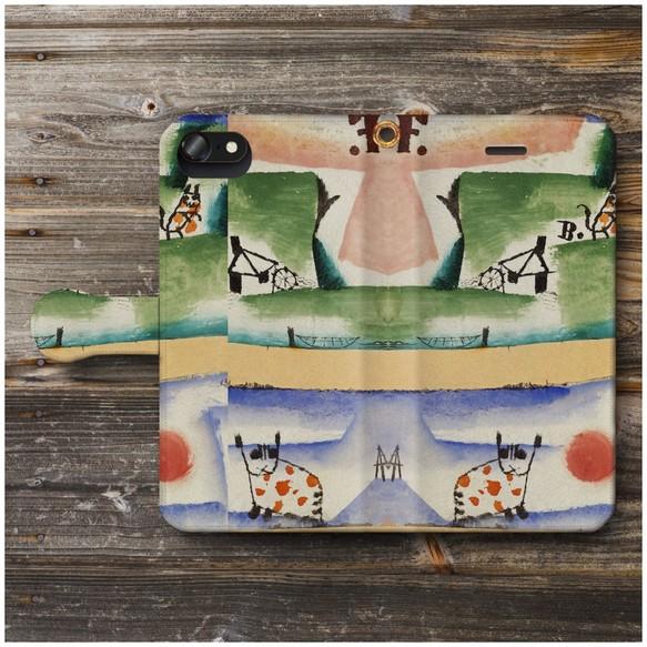 65a03f9d2b 【パウル クレー Tomcat's Turf】スマホケース手帳型 全機種対応 絵画 かわいい iPhoneXR