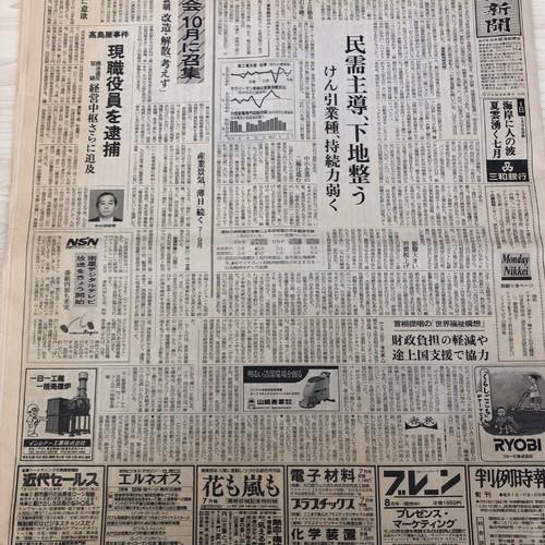 日本経済新聞 1996年(平成8年) 7月1日(月曜日) 写真・グラフィック 豆 ...