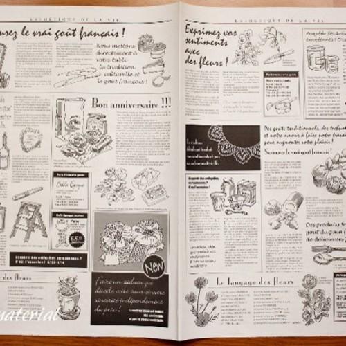 ニュースペーパージャーナル * 30枚set * デザイン仏語新聞 ラッピング ...