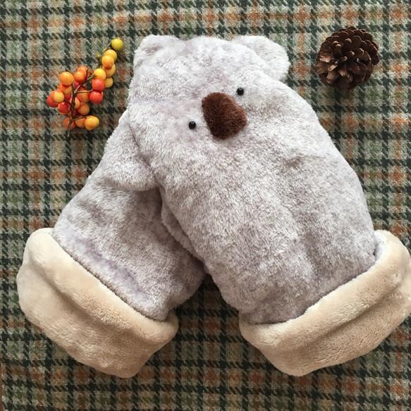 冬限定 もこもこコアラの手袋 手袋ミトン Yamamo 通販creema