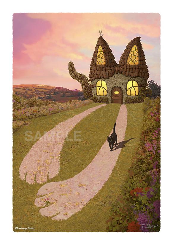 Cat House 1猫をテーマにした風景画のシリーズ イラスト コロンゴart