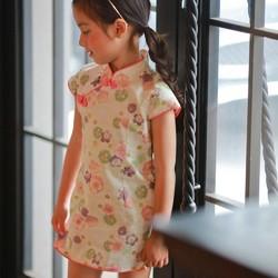 f69abb5dd1e14 5歳の2歳のチェリー・ホワイト小さなチャイナドレス 子供服 Shining.Gifts 通販|Creema(クリーマ)  ハンドメイド・手作り・クラフト作品の販売サイト