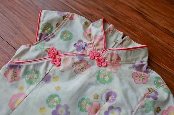 99854824ba090 5歳の2歳のチェリー・ホワイト小さなチャイナドレス 子供服 Shining ...