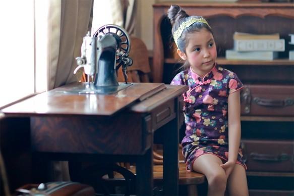 e9e79ae064bee チェリー小さな紫色のドレス(2歳〜5歳) 子供服 Shining.Gifts 通販 ...