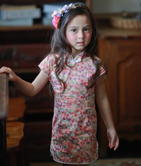 de09f78a15ac4 小さな赤い花チャイナドレス(2歳〜5歳) 子供服 Shining.Gifts 通販 ...