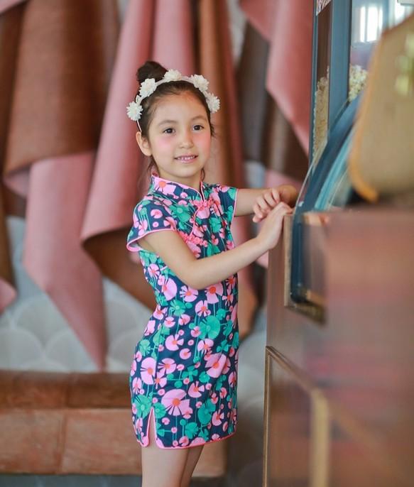 8e2ac225d536b 5才まで2歳)ダンスの花小さなチャイナドレス 子供服 Shining.Gifts 通販 ...