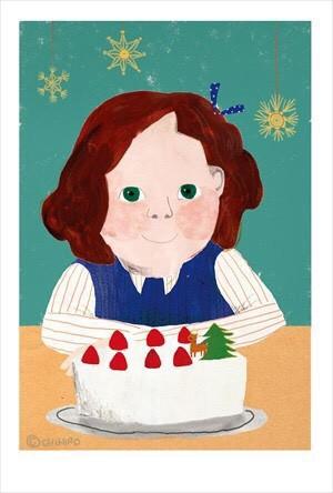 わくわくケーキ ポストカード 032 イラスト Chihiro 通販creema