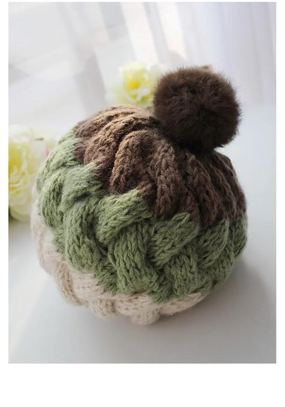 帽 手編み ニット