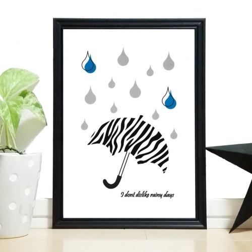 RoomClip商品情報 - ポスター【Rainy days(zebra)】