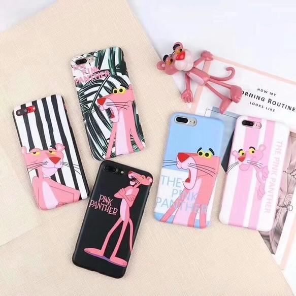 iphone 8plusハード ケースXピンク・パンサー人気キャラクターiPhoneX可愛いイラスト風アニメ ピンクの豹