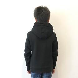 6f1b80edb412e キッズボアスウェットパーカー☆リンクコーデ<ブラック> 子供服 mihika ...