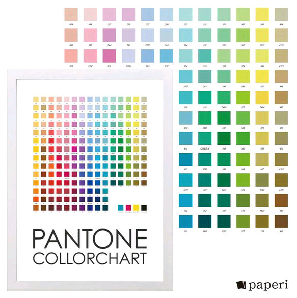 Pantone color chart panel a4
