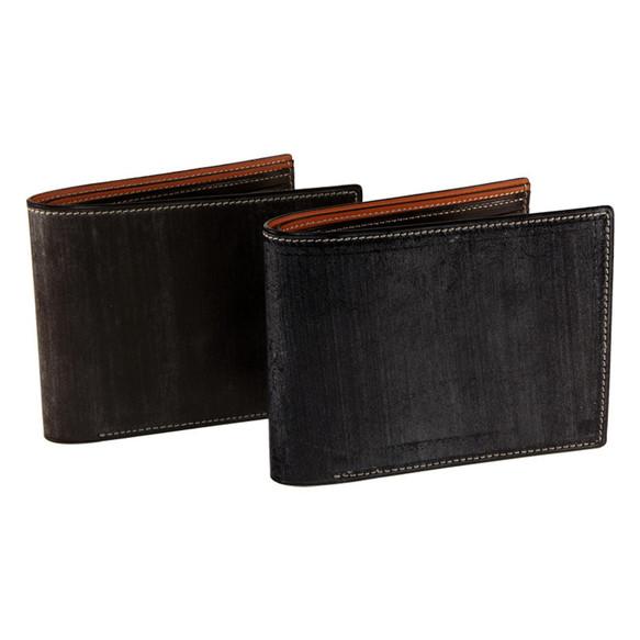 d0a136d3702d ブライドルレザー 二つ折り財布 二段小銭入れ* 本革 ブラウン メンズ 財布(右利き用)
