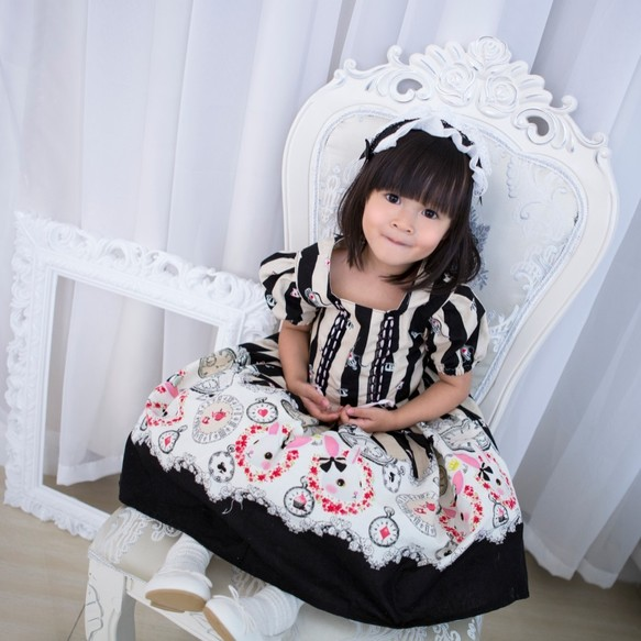 276019e2d6abd バニーガールロリータドレス(黒) 子供服 Babylolita 通販|Creema ...