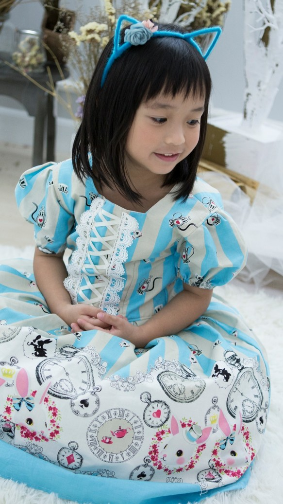 9d158e8777500 バニーガールロリータドレス(スカイブルー) 子供服 Babylolita 通販 ...