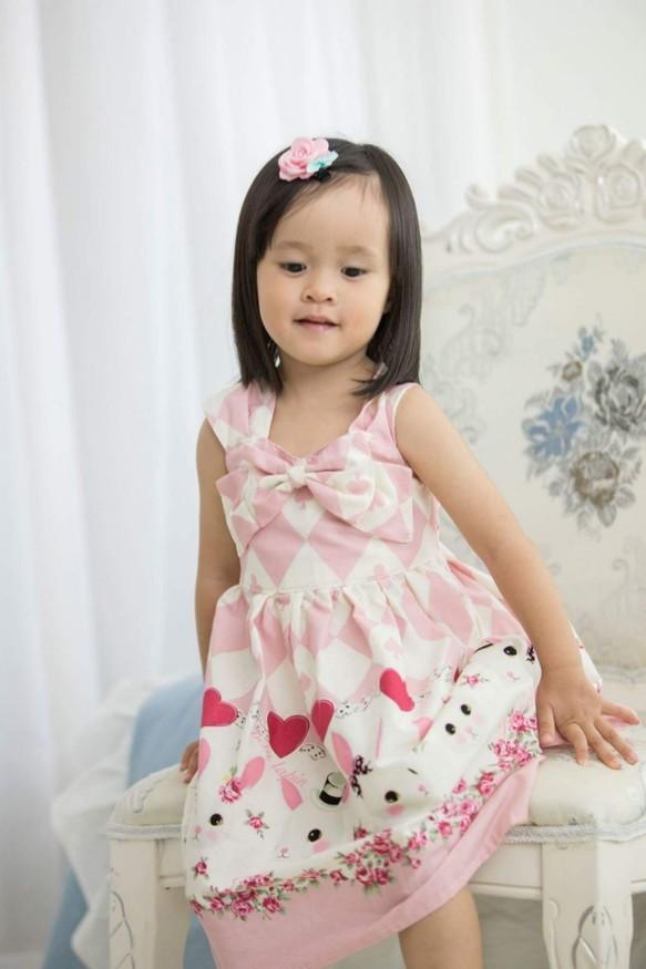 34efdda636b0e バニーベストボウドレス(ピンク) 子供服 Babylolita 通販|Creema ...