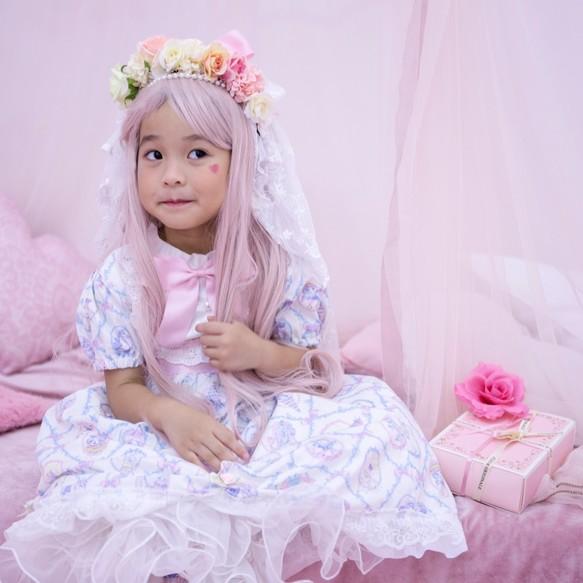 55a200a3c990f ホワイトカラーのピンクの弓ロリータドレス 子供服 Babylolita 通販 ...
