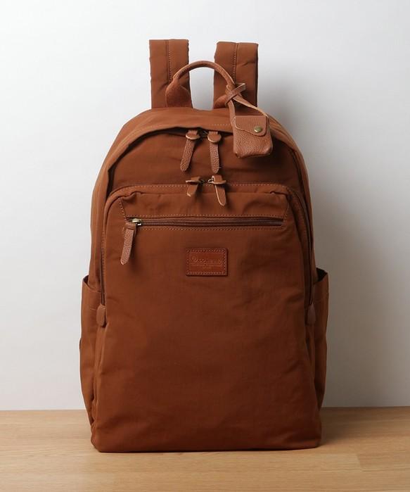 29f3f7054945 19SS 新作☆リンクルナイロン/カウレザーリュック オレンジ nylon back pack orange リュック・バックパック toleur