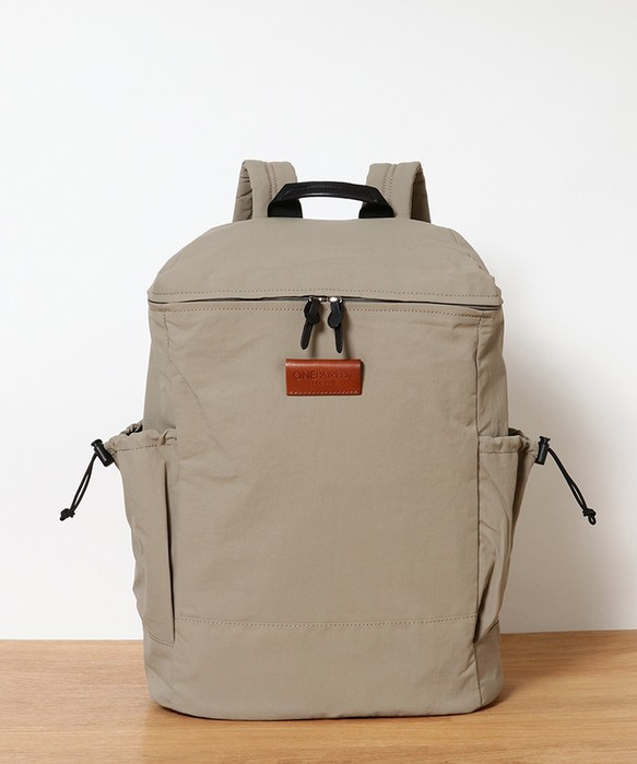 e73ff85cf121 ユニセックス リンクルナイロン バックパック / unisex nylon back-pack L.grey リュック・バックパック(メンズ)  toleur